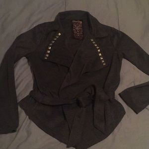 Sterling brand grey belted light weight jacket